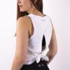 basic white top open back