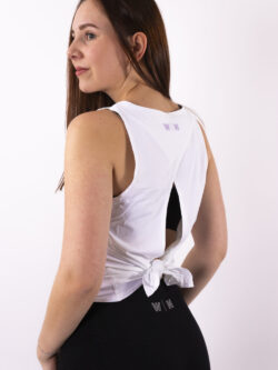 basic white top open back