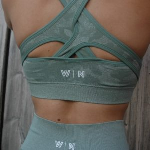 Green camo sporttop Crossed back - Woman Nutrition