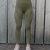 Seemless High Waist Legging Olive Details – Woman Nutrition