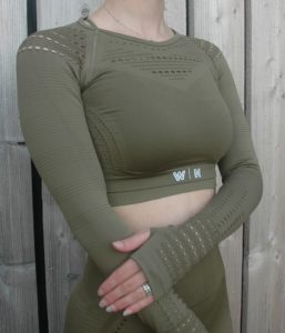 Long sleeve cropped top - Woman Nutrition - Olive