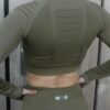 Long sleeve cropped top – Woman Nutrition – Olive