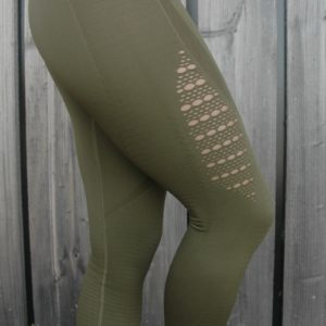 Seemless High Waist Legging Olive - Woman Nutrition