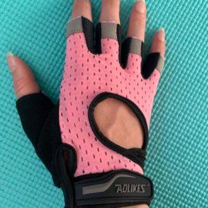Roze handschoentjes fitness