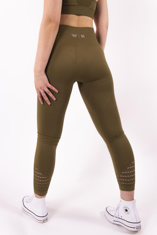 olive legging details woman nutrition