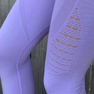 Seemless high waist pastel purple woman nutrition