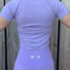 sport shirt woman nutrition pastel paars