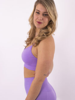 lilac sportbh woman nutrition