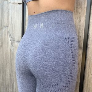 Blauwe sportlegging high waist woman nutrition