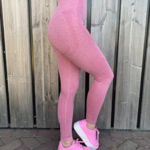 Roze sportlegging high waist woman nutrition