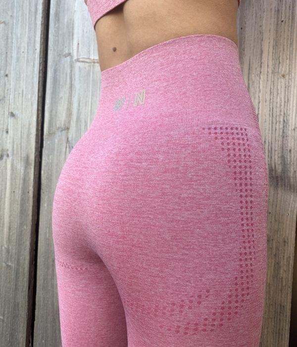 Roze sportlegging high waist woman nutrition