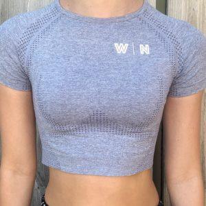 t-shirt blauw sport woman nutrition