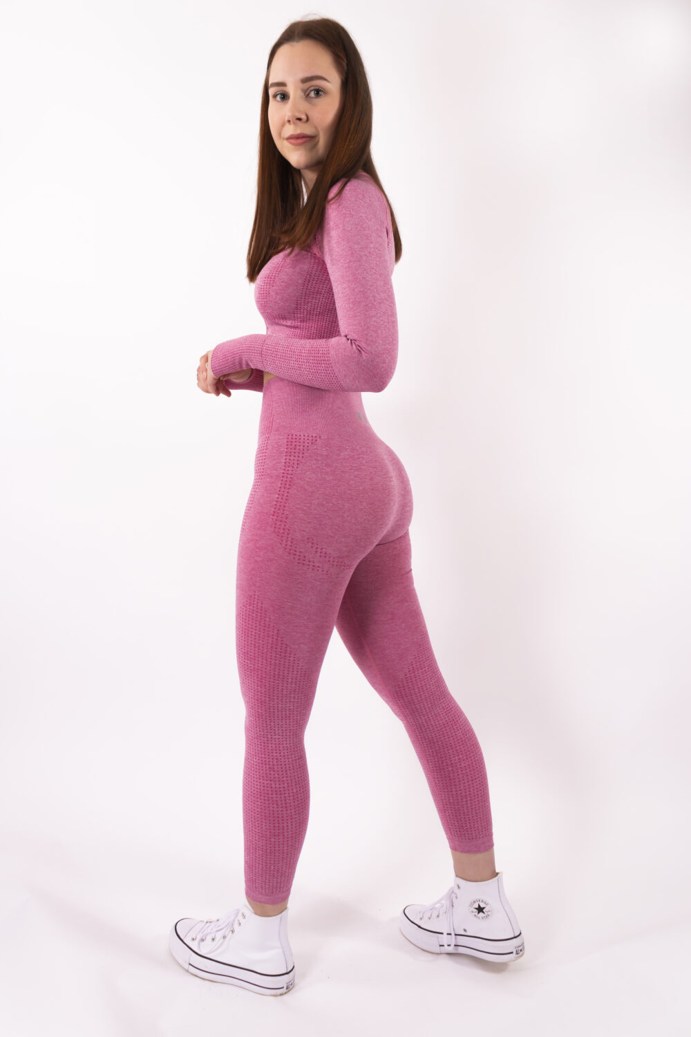 pink set long sleeve woman nutrition