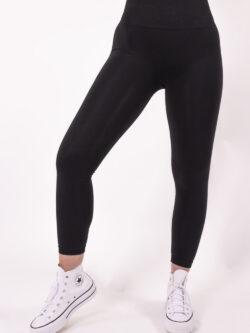 basic black legging woman nutrition