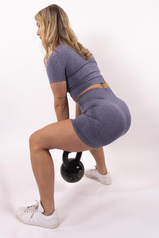 blue short set woman nutrition
