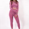 pink long sleeve set woman nutrition