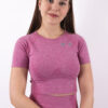 pink cropped t-shirt woman nutrition