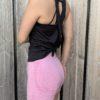 crossed back top zwart woman nutrition