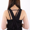 basic black top crossed back woman nutrition
