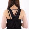basic black top crossed back woman nutrition