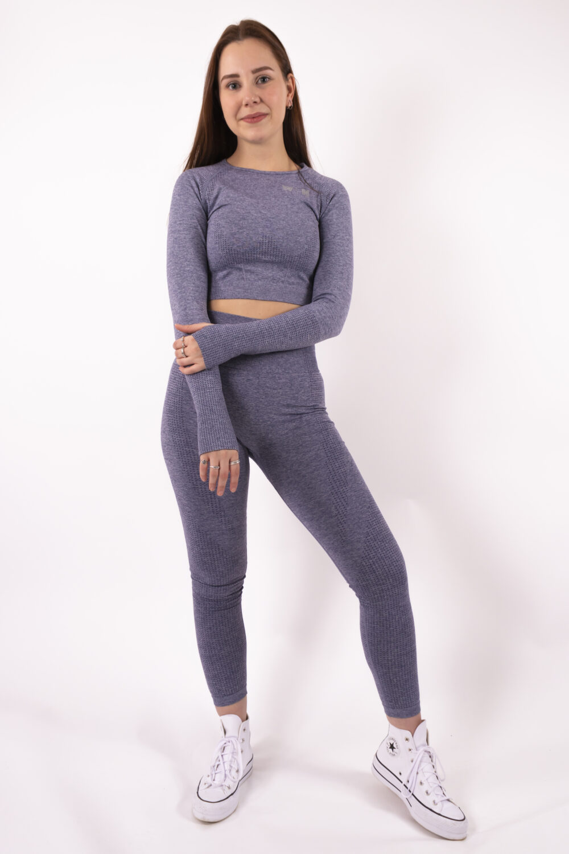 blue long sleeve set woman nutrition