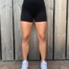 Basic black short high-waist woman nutrition