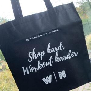 Woman Nutrition - Tasje Shop hard, workout harder