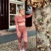 roze high-waist sportlegging longsleeve a/w collectie woman nutrition