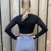 Basic black long sleeve sporttop woman nutrition