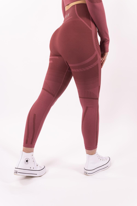 a/w pink seamless high-waist sportlegging woman nutrition