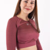 a/w pink long sleeve top woman nutrition