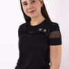 basic black t-shirt woman nutrition