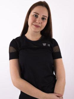 basic black t-shirt woman nutrition