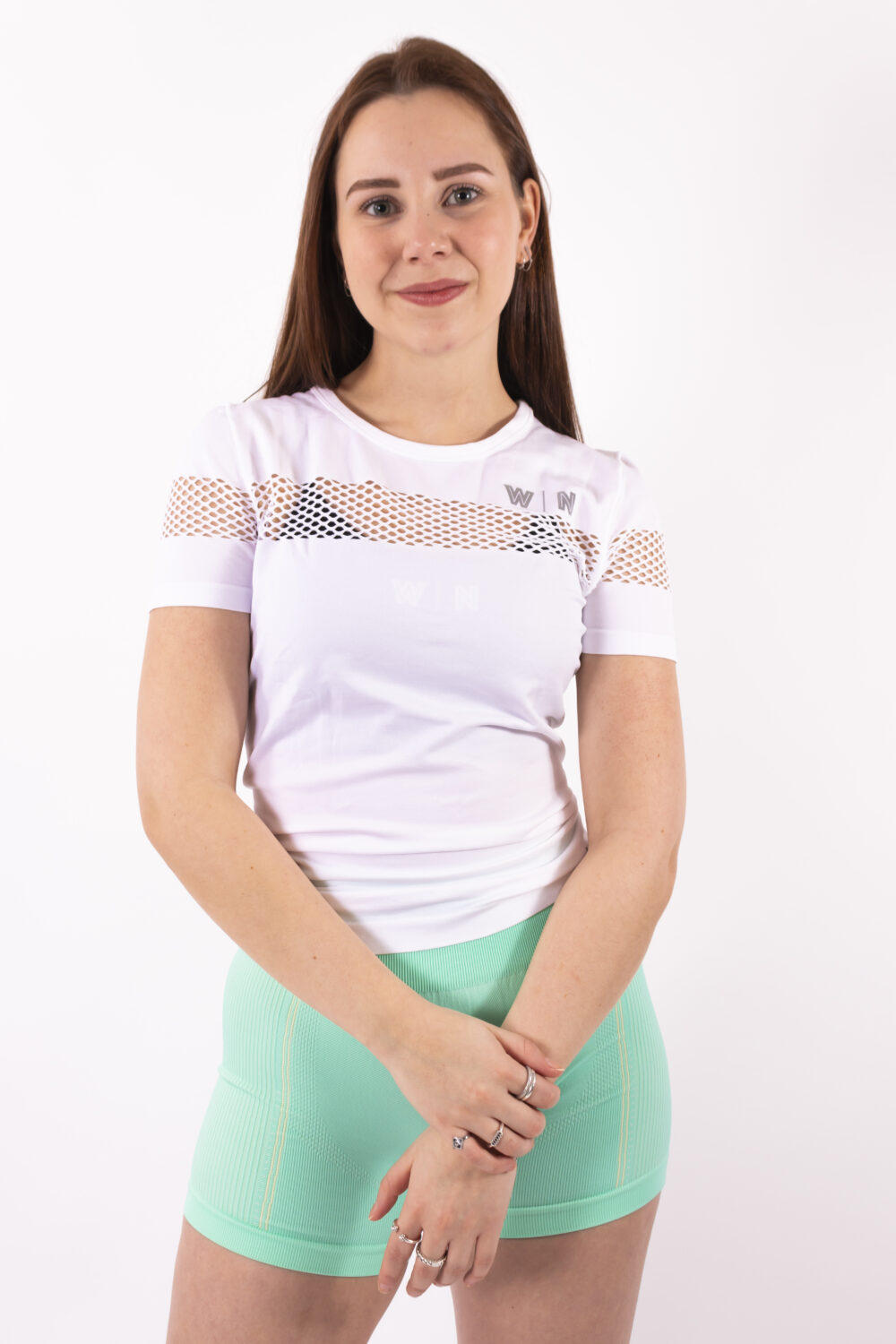 Basic white t-shirt woman nutrition