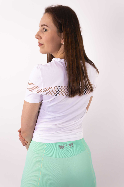 Basic white t-shirt woman nutrition