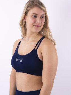 dark blue top woman nutrition