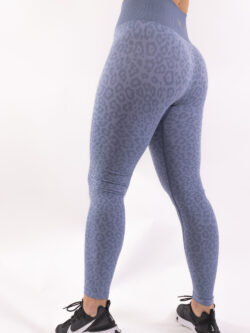 Leopard sportlegging woman nutrition