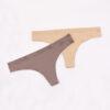 invisible underwear string nude en brown